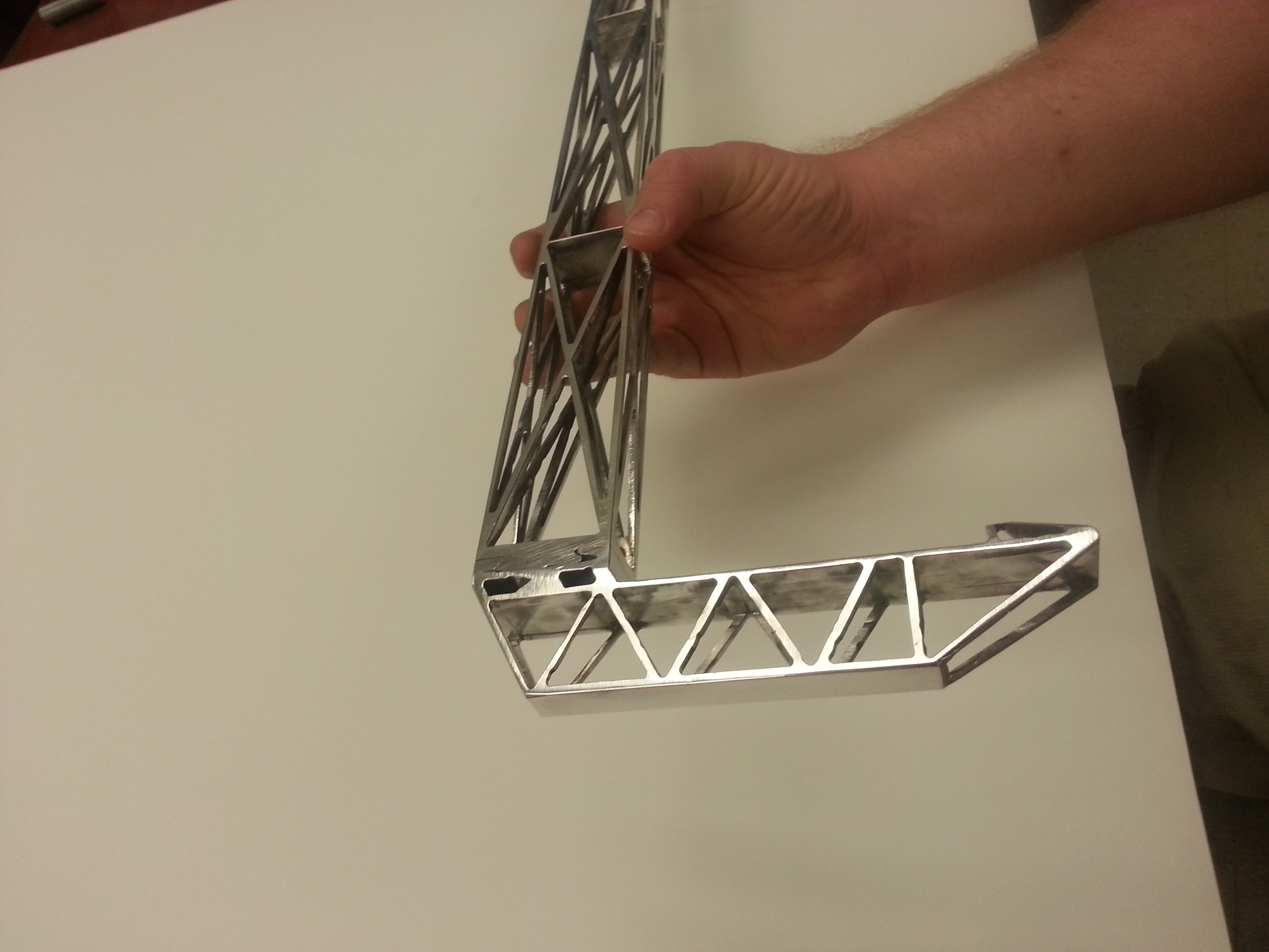 Space Frame Cane (prior to anodizing) « Meiswinkel Automata